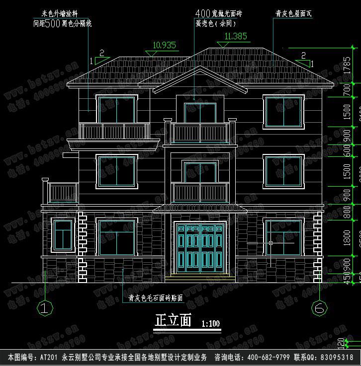 661农村三层别墅设计图纸