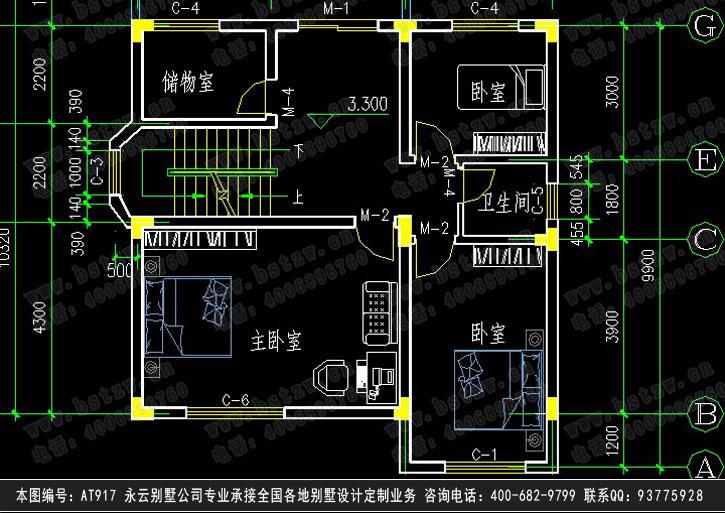 676三层豪华别墅施工图纸别墅设计图纸