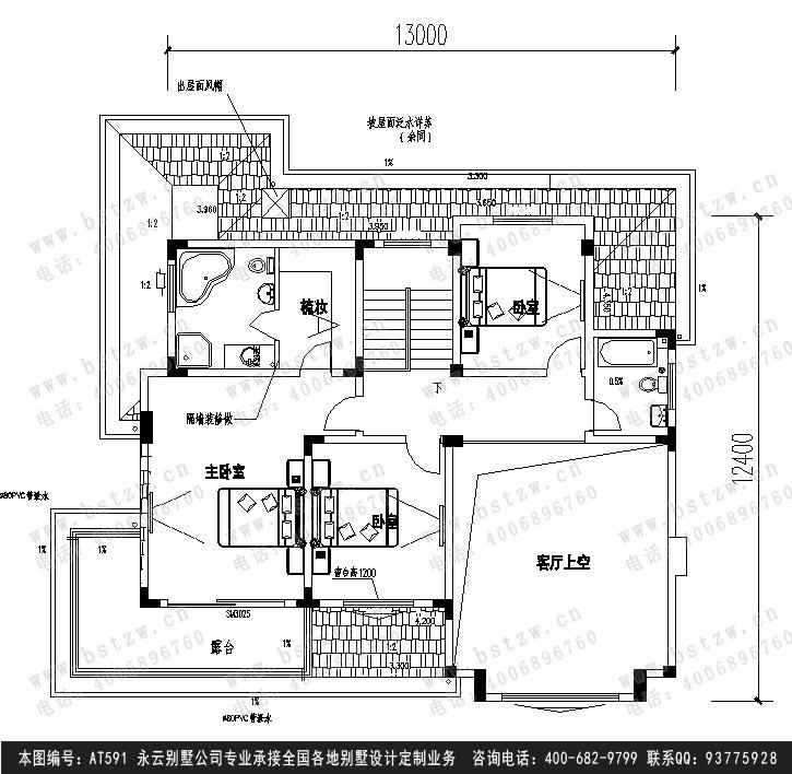 690二层农村别墅施工图纸别墅设计图纸