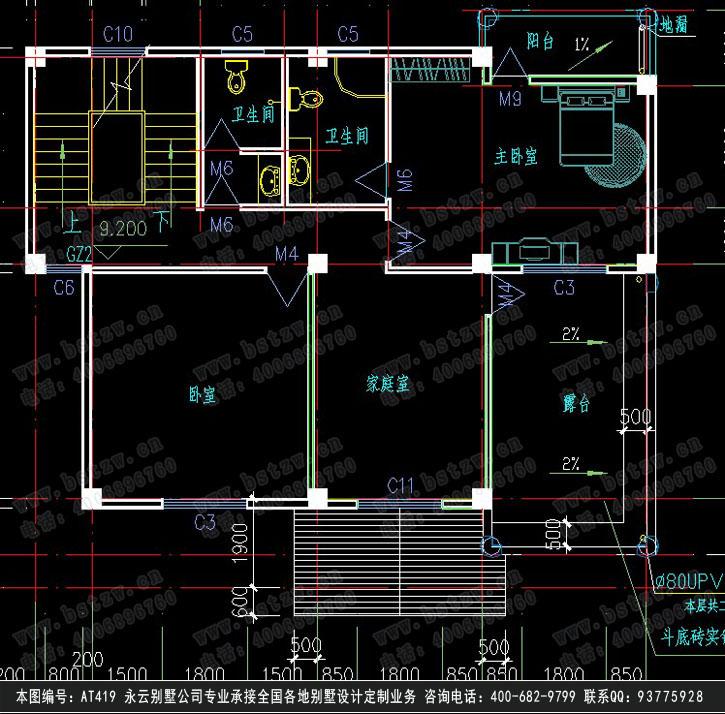 699欧式豪华四层别墅施工图纸别墅设计图纸