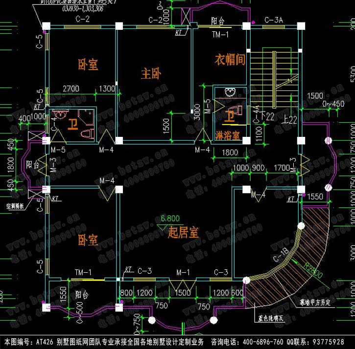 at426四层/三层半豪华欧式别墅设计图纸