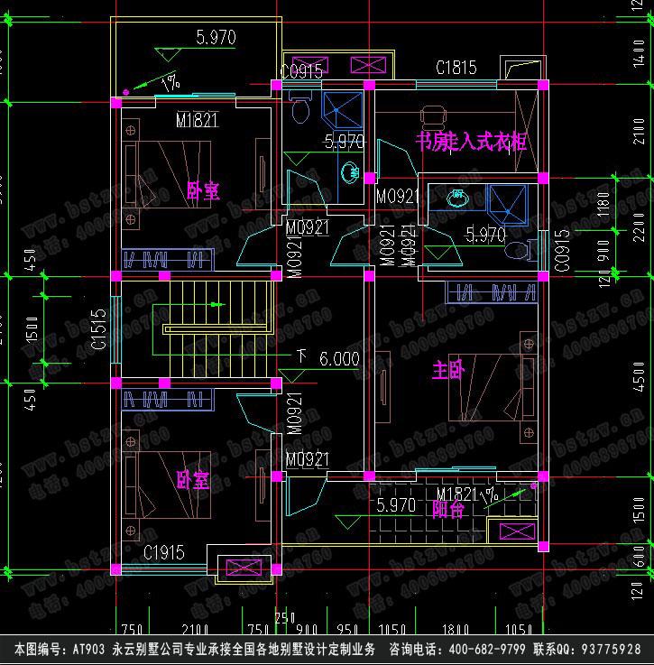817三层豪华别墅施工图纸别墅设计图纸