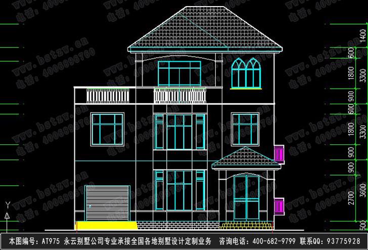 868号3层现代别墅效果图