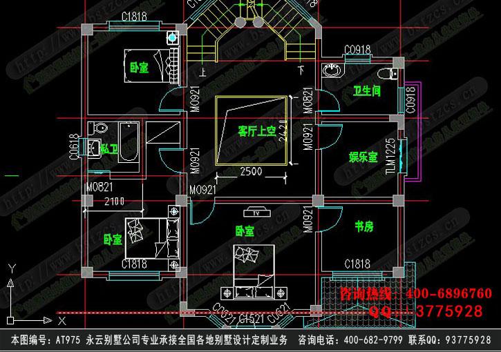 868号3层现代别墅施工图纸别墅设计图纸
