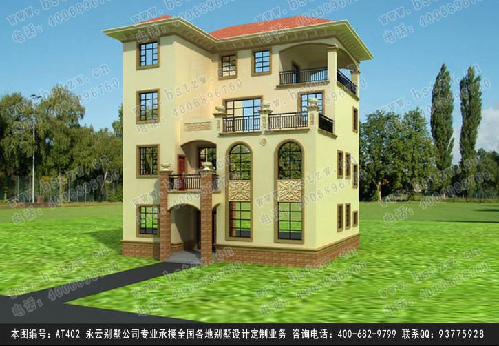 870欧式豪华三层别墅施工图纸别墅设计图纸