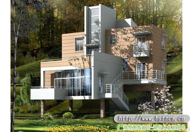 871欧式豪华三层别墅施工图纸别墅设计图纸