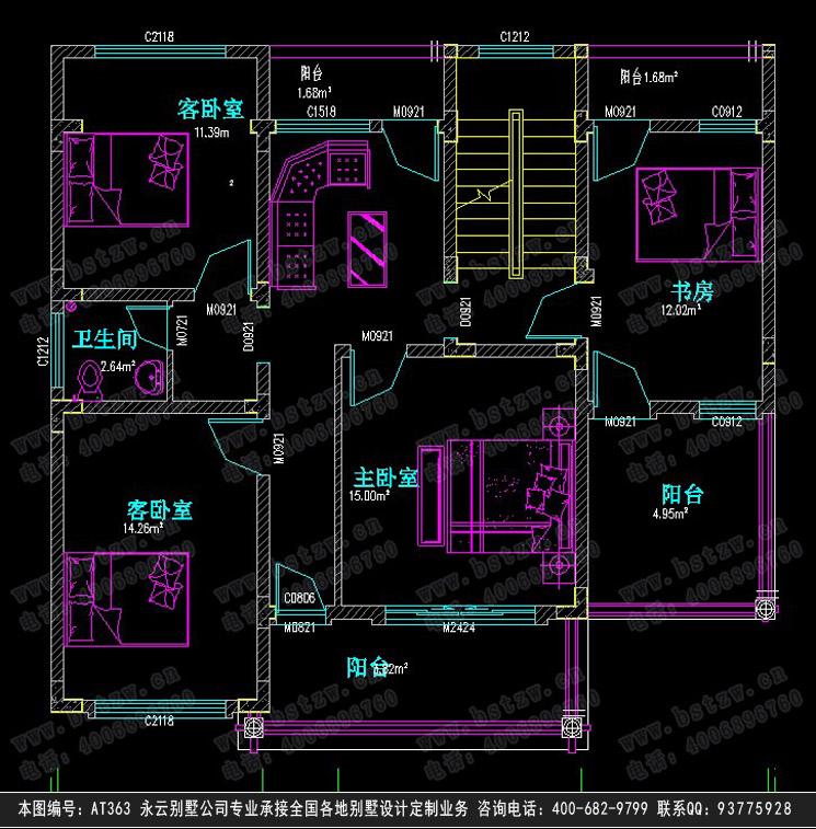小别墅建筑设计图纸11m×