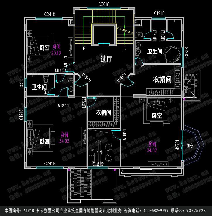 888别墅设计施工图纸
