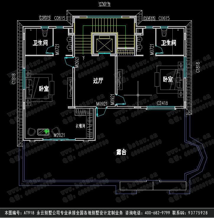 888欧式豪华三层别墅施工图纸别墅设计图纸