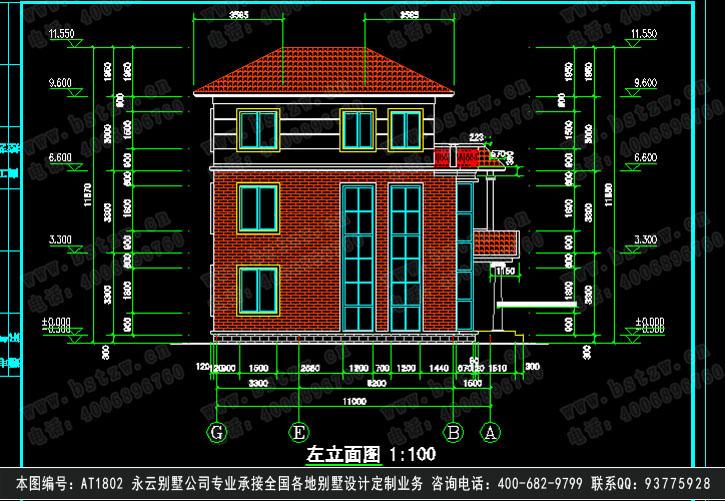 892欧式豪华三层别墅施工图纸别墅设计图纸-三层现代风格别墅设计图纸