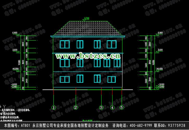893欧式豪华二层别墅施工图纸别墅设计图纸