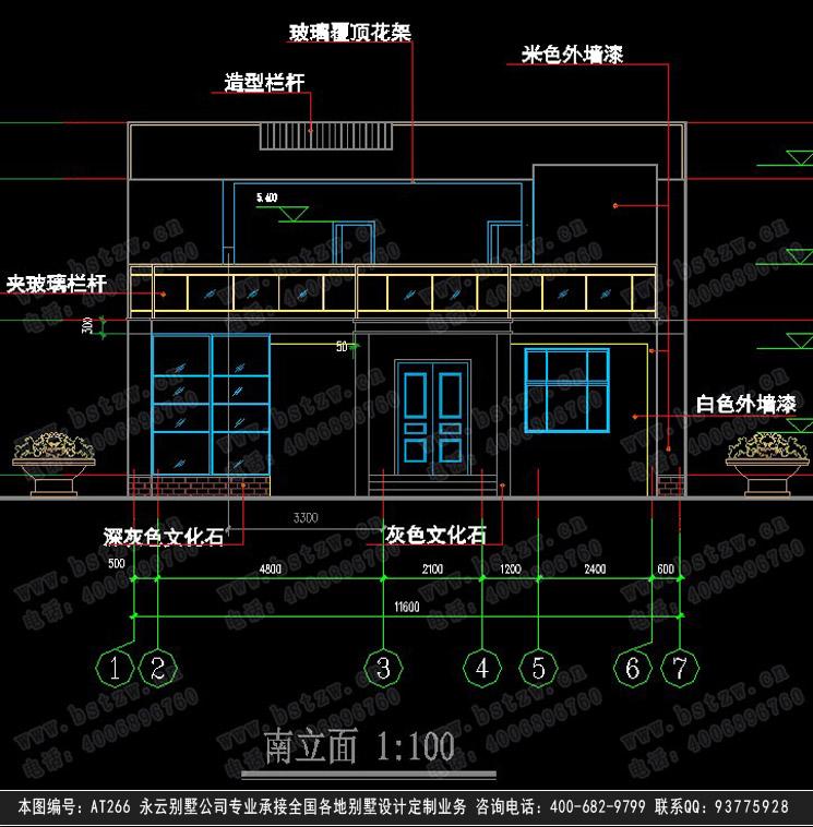896欧式豪华二层别墅施工图纸别墅设计图纸