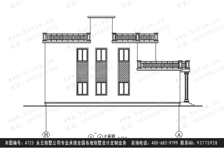 901欧式豪华二层别墅施工图纸别墅设计图纸