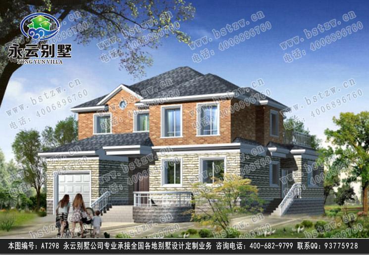 【at298二层豪宅大气欧式带车库别墅设计建筑图纸