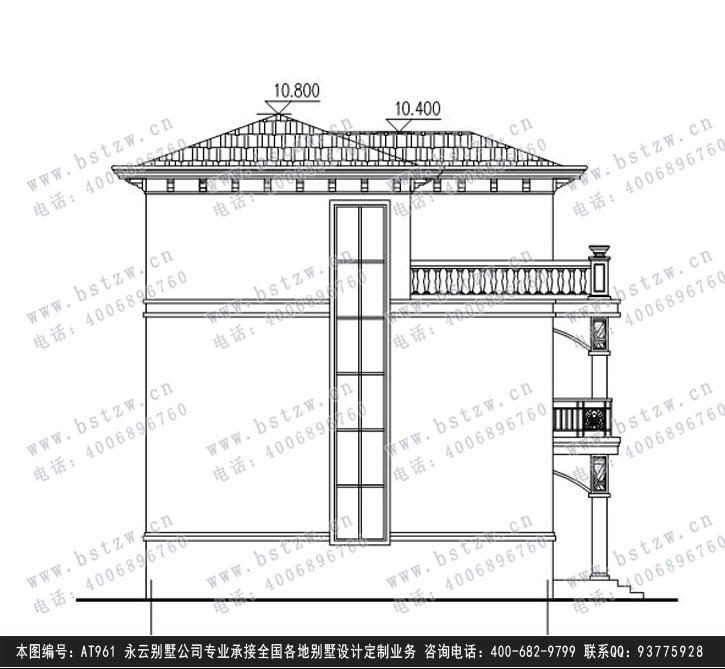 设计功能: 一层:餐厅、客厅、厨房、父母房、卫生间; 二层:阳台、2间卧室、起居室、卫生间、主卫、主卧室; 三层:露台、卧室、卫生间、活动室、主卧室。 图纸目录:建筑:图纸目录、设计说明、材料做法表、一层平面图、二层平面图、三层平面图、屋顶层平面图、天沟大样图、背立面图、正立面图、左立面图、右立面图;结构:图纸目录、结构设计总说明、基础平面布置图、3.