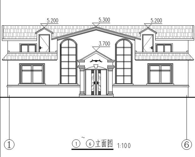 915欧式豪华二层别墅施工图纸别墅设计图纸
