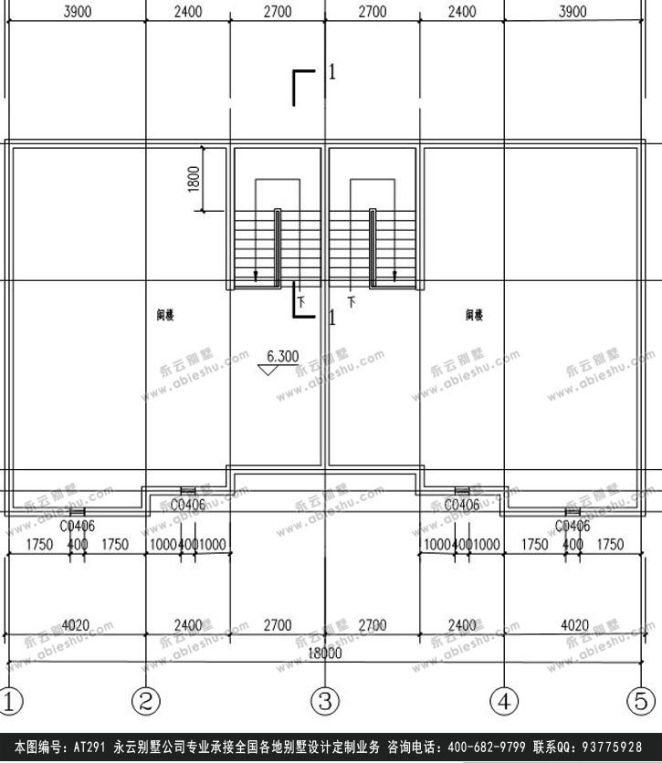 919欧式豪华三层别墅施工图纸别墅设计图纸