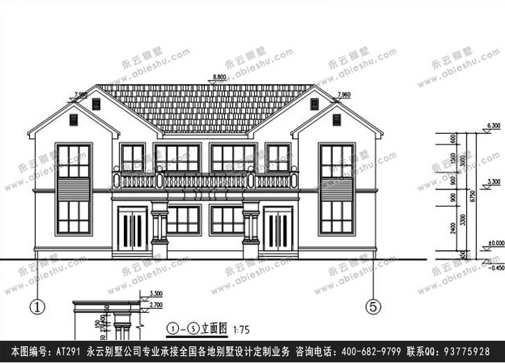 美观大气带阁楼双拼独栋别墅设计图纸及结构水电
