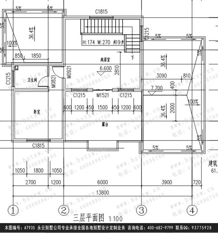 921欧式豪华三层别墅施工图纸别墅设计图纸