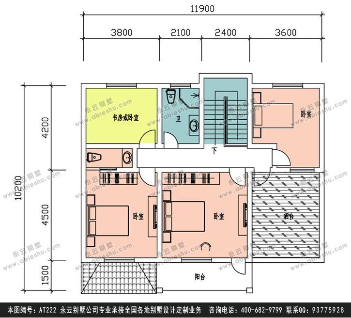 别墅全套设计图纸12m×15m