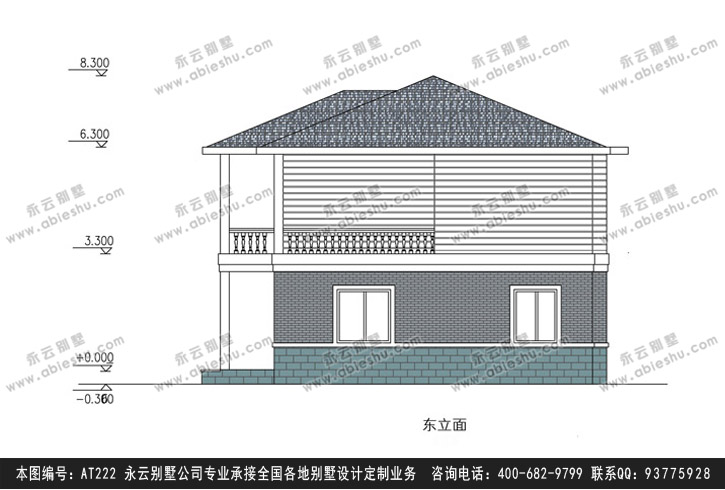 922现代二层别墅施工图纸别墅设计图纸