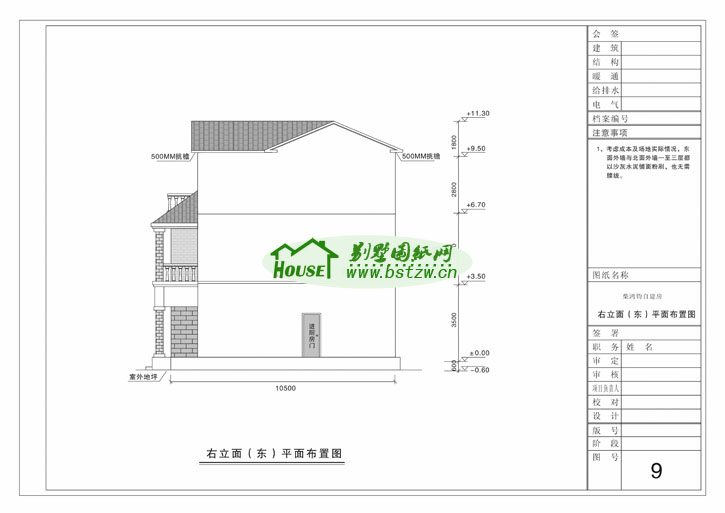 931现代豪华三层别墅施工图纸别墅设计图纸