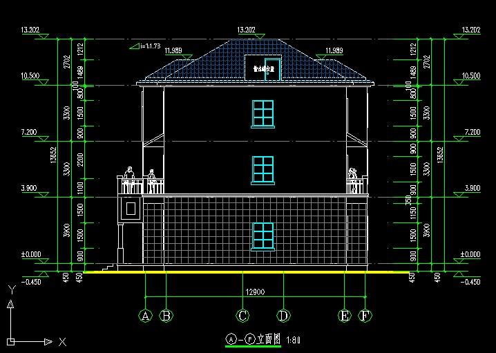 【at132三层漂亮简欧式别墅建筑施工设计图纸12m×13