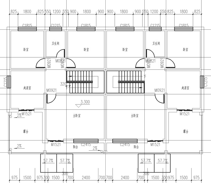 936别墅设计施工图纸