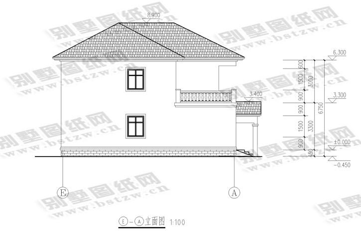 936别墅施工图纸别墅设计图纸