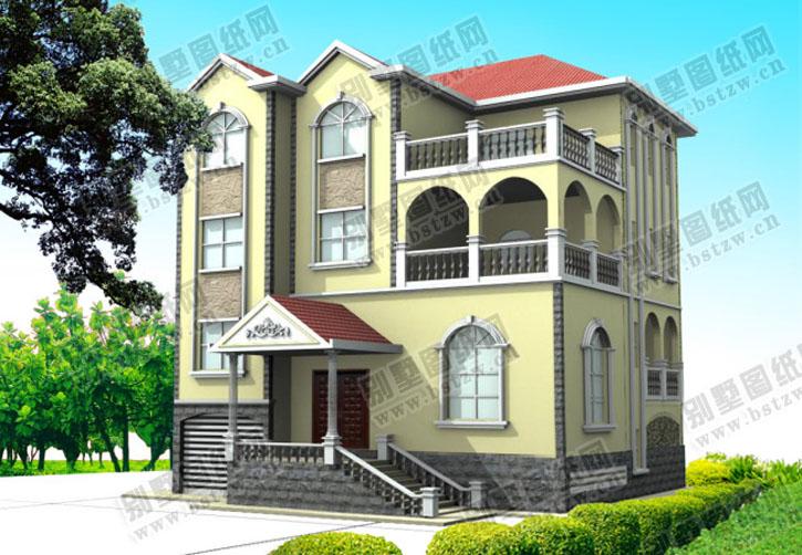 938欧式豪华三层别墅施工图纸别墅设计图纸