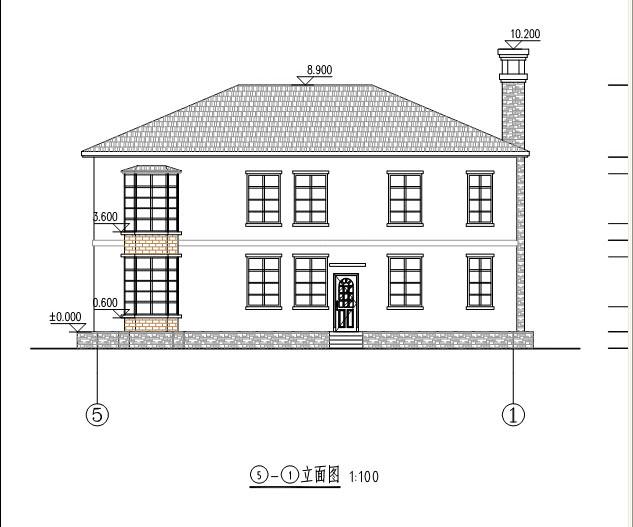 941现代二层别墅施工图纸别墅设计图纸