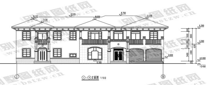 942现代二层别墅施工图纸别墅设计图纸