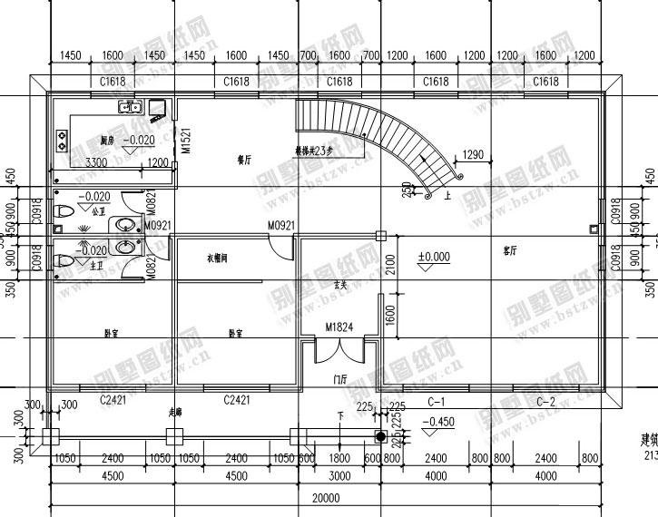 设计图纸超市有限公司 【永云别墅】at286带屋顶花园二层复式客厅别墅