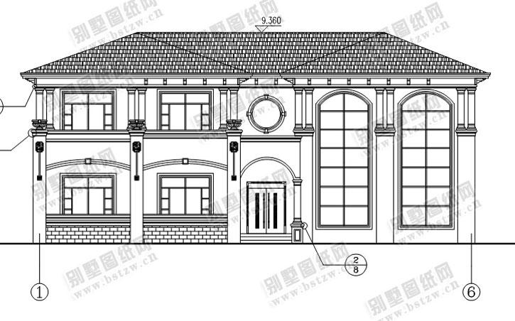 946现代二层别墅施工图纸别墅设计图纸