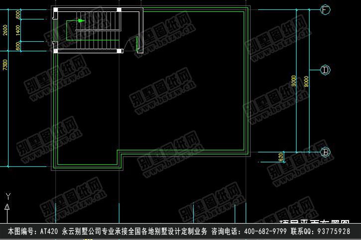 950欧式漂亮三层半带商铺别墅施工图纸别墅设计图纸
