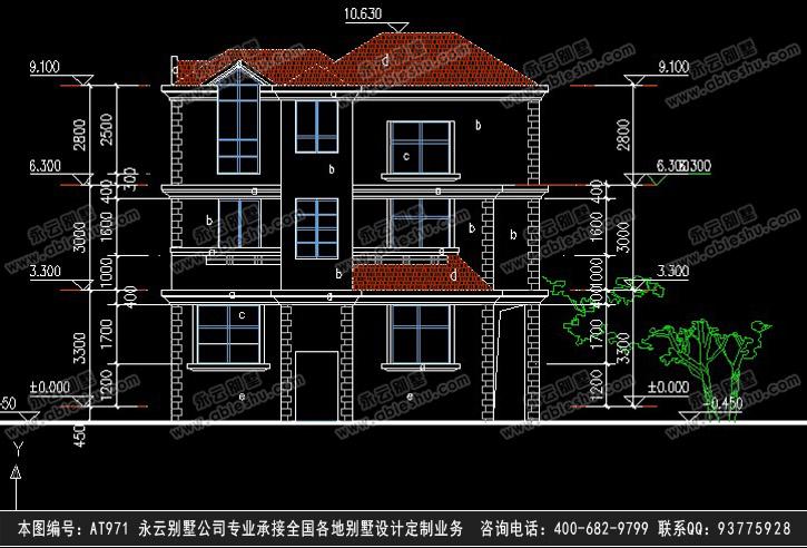 955民族风三层别墅施工图纸别墅设计图纸