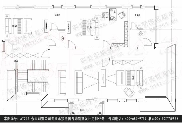 956经典二层别墅设计施工图纸