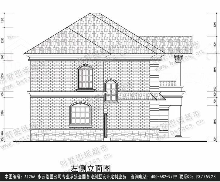 956经典二层别墅施工图纸别墅设计图纸