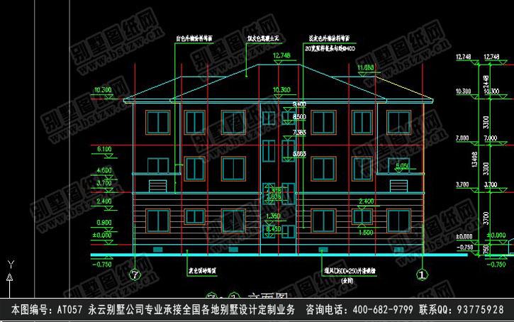 1-1建筑剖面图