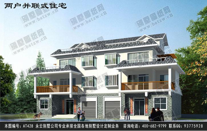 958现代漂亮三层双拼别墅施工图纸别墅设计图纸