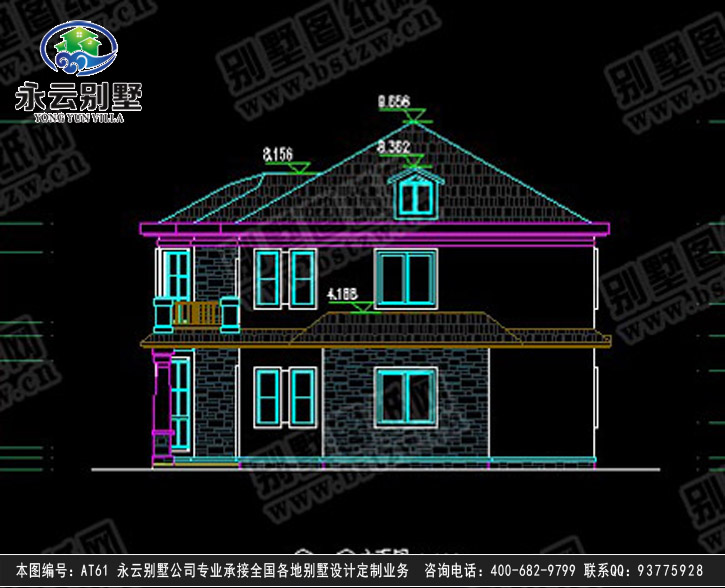 960经典二层别墅施工图纸别墅设计图纸