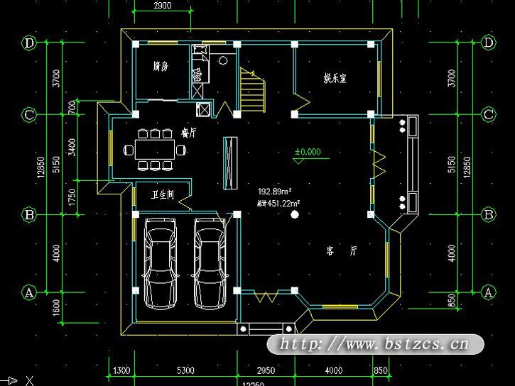 995欧式豪华三层别墅施工图纸别墅设计图纸