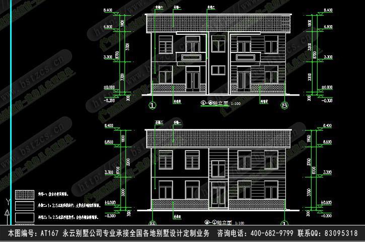 681欧式豪华三层别墅施工图纸别墅设计图纸
